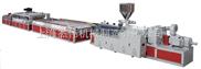 上海金纬机械PVC塑钢型材和PVC\PE\P P木塑型材生产线